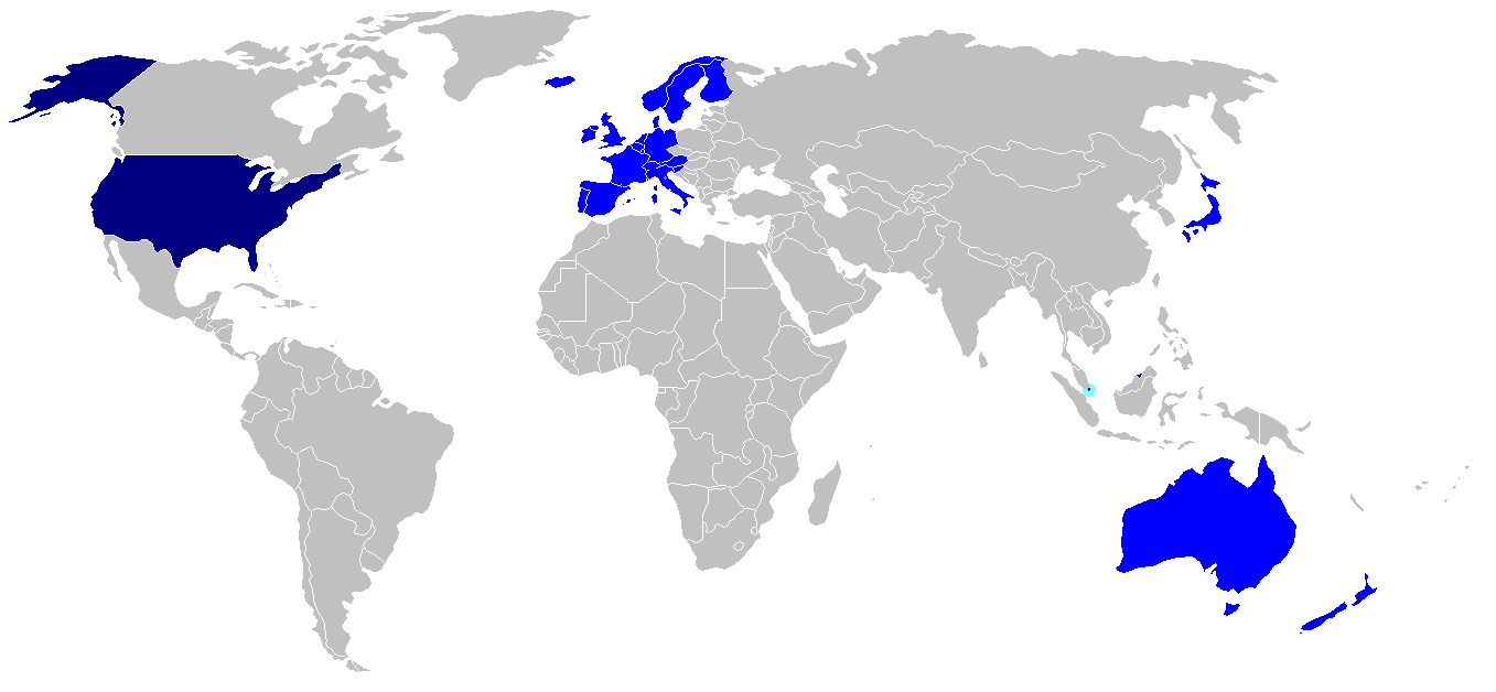 Fileus Visa Waiver Program Mappng Wikimedia Commons - Us-map-program