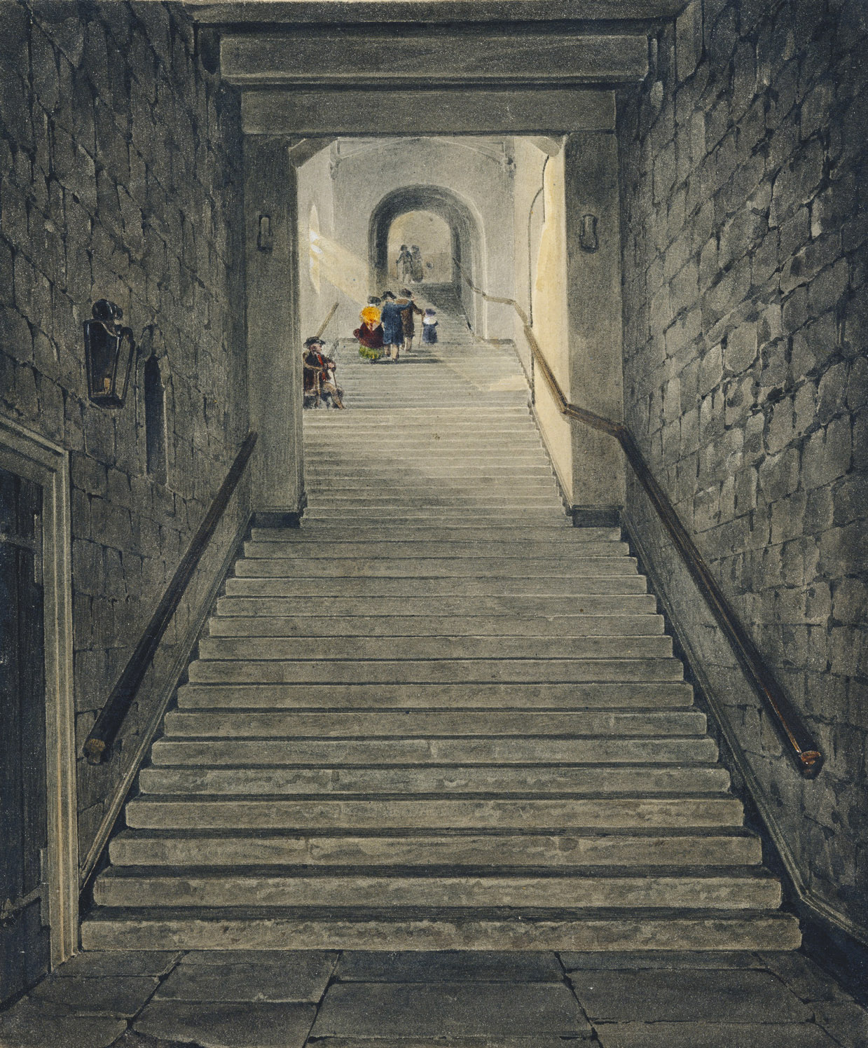File:Windsor Castle, Round Tower Staircase, by James ...