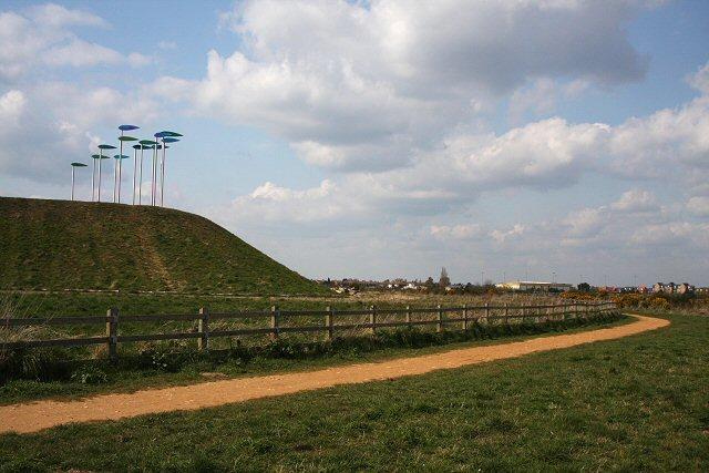 'Green Wind' sculpture - geograph.org.uk - 766893