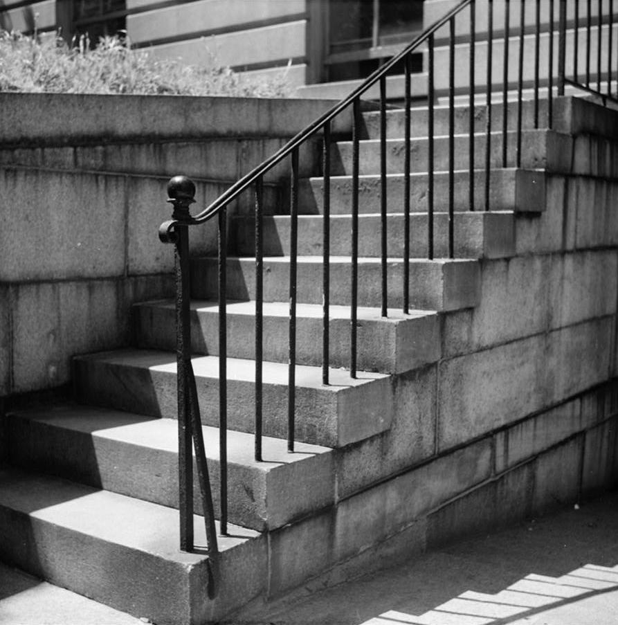File 14 Detail Iron Stair Railing Street Level To