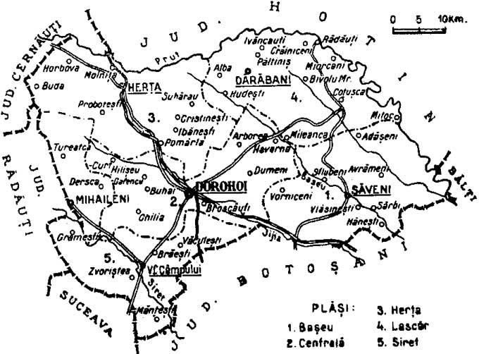 File 1938 Map Of Interwar County Dorohoi Jpg Wikipedia