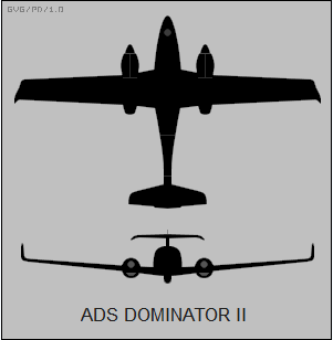 Mexico adquiere Aeronaves no tripuladas Dominator XP ADS_Dominator_II_two-view_silhouette