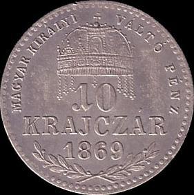 AHGkr hun 10 1869 reverse