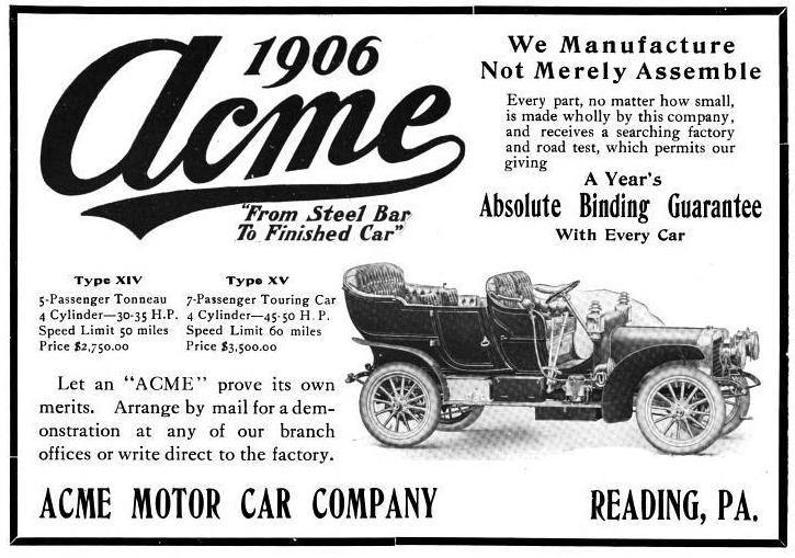 ACME 1906 ad