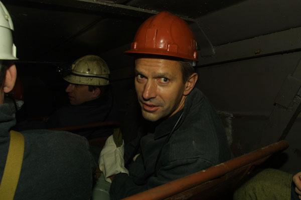 Andriy Klyuyev in a mine