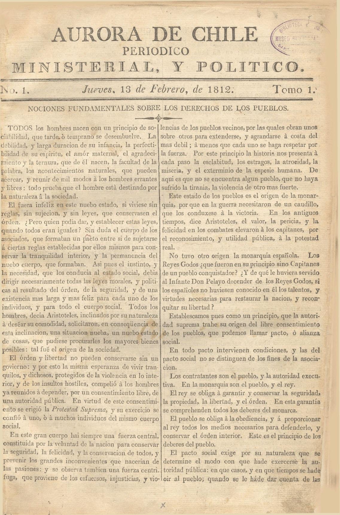 Aurora de Chile - Wikipedia, la enciclopedia libre