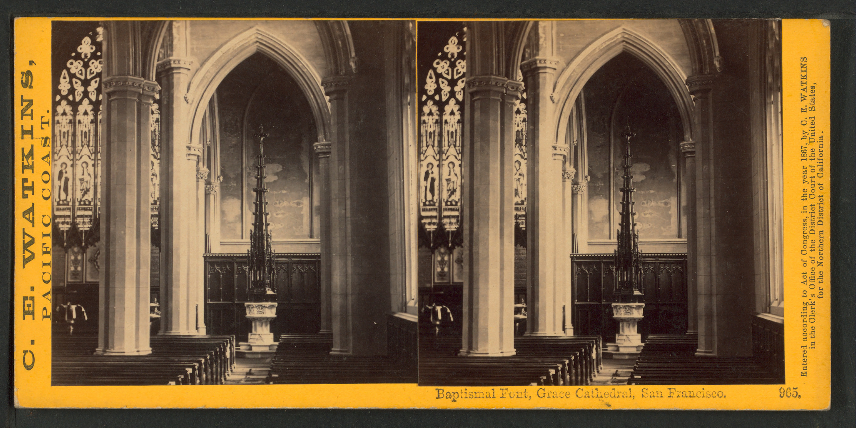 Baptismal Font Grace Cathedral Francisco From Robert Dennis Collection Of Stereoscopic Views How To Reduce Size