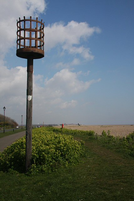 File Beacon On The Beach Geograph Org Uk 758270 Jpg