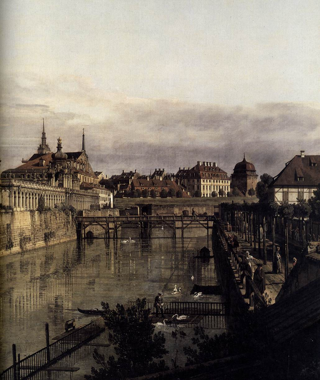 file bernardo bellotto il canaletto the moat of the zwinger in dresden detail. Black Bedroom Furniture Sets. Home Design Ideas