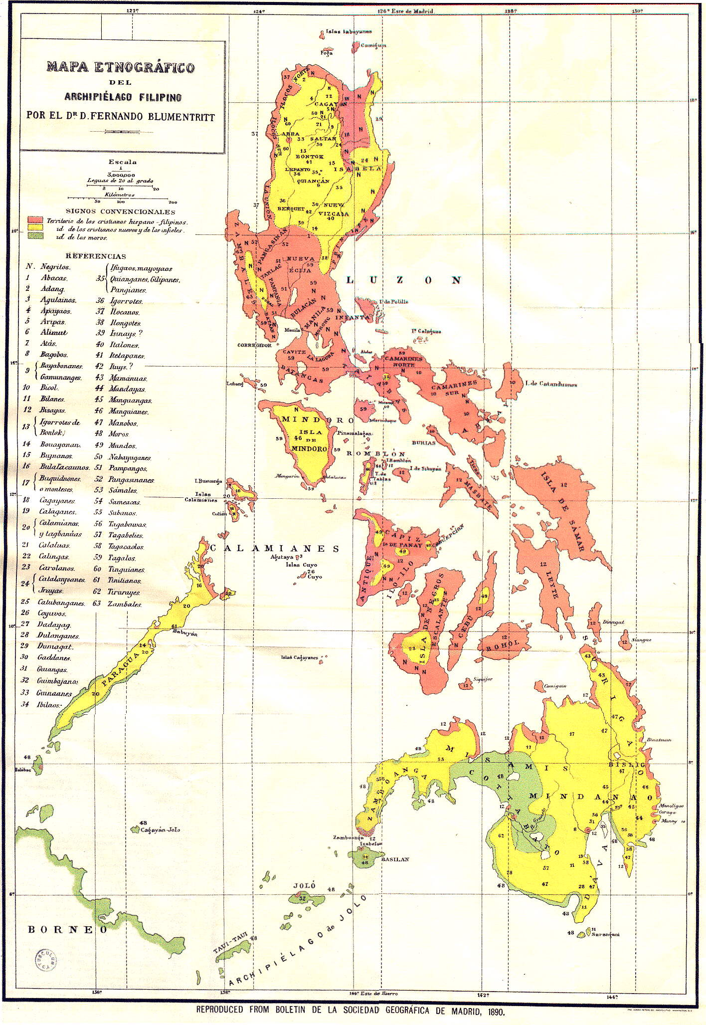 Spanish Philippines Map.Spanish Ethnographic Map Of The Philippines 1890 1416 2055 Mapporn