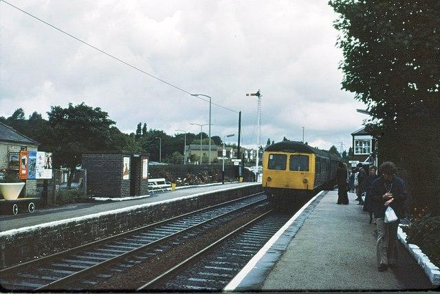 File Bromley Cross Railway Station In 1978 Jpg