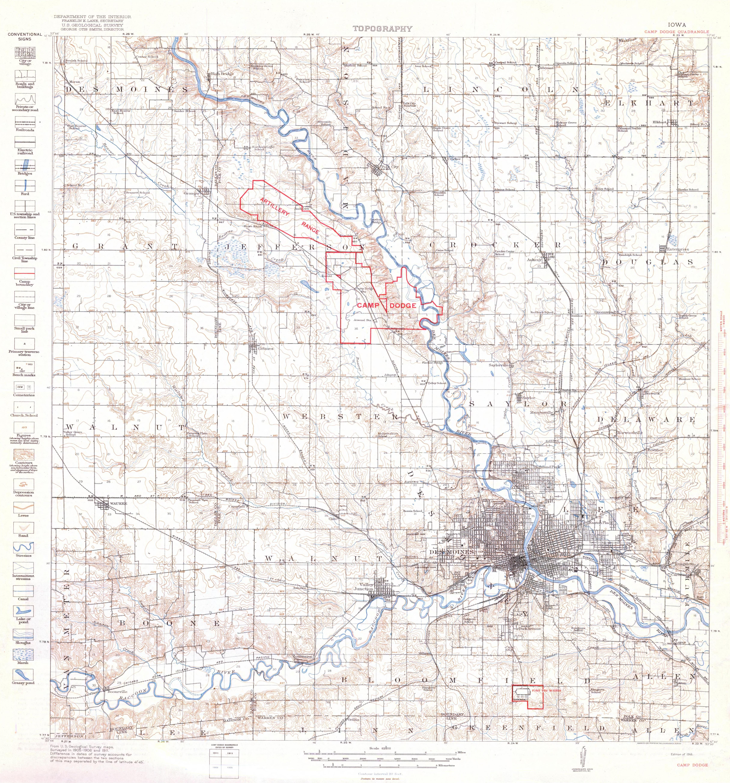 File:Camp Dodge, Iowa Quadrangle Topographical Map, 1918.jpg - Wikimedia Commons