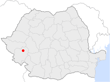 Location of Caransebeș