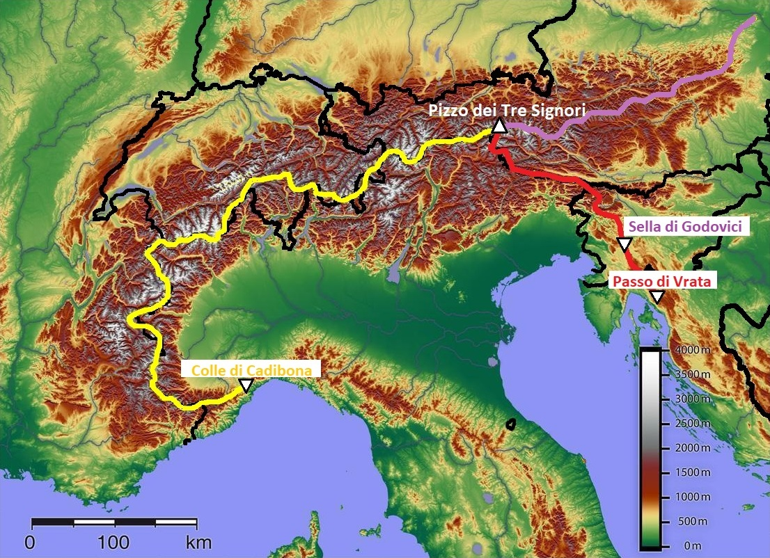 Cartina 3d Alpi.Catena Principale Alpina Wikipedia