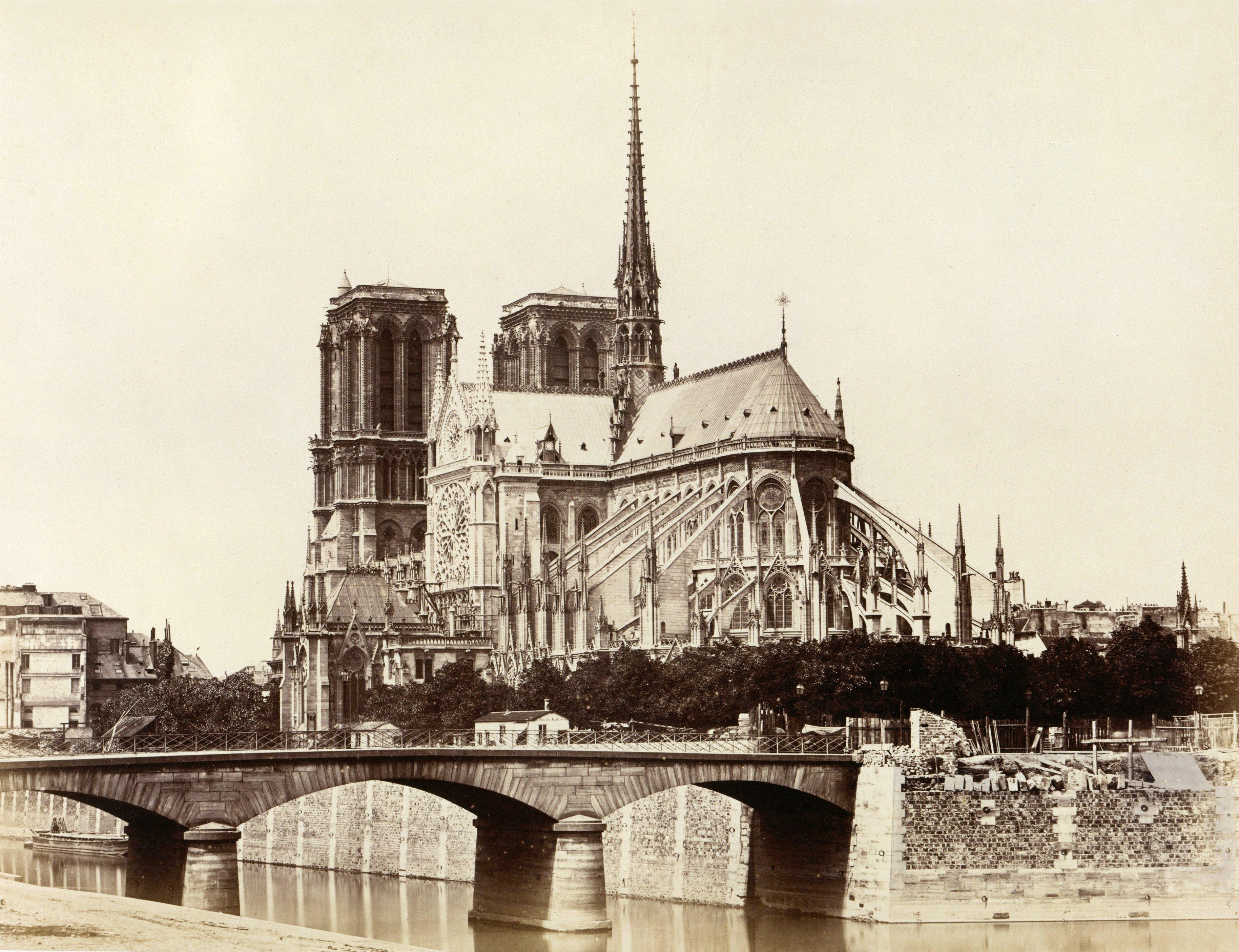 File cath drale notre dame de paris east facade by douard baldus - Les encombrants de paris ...