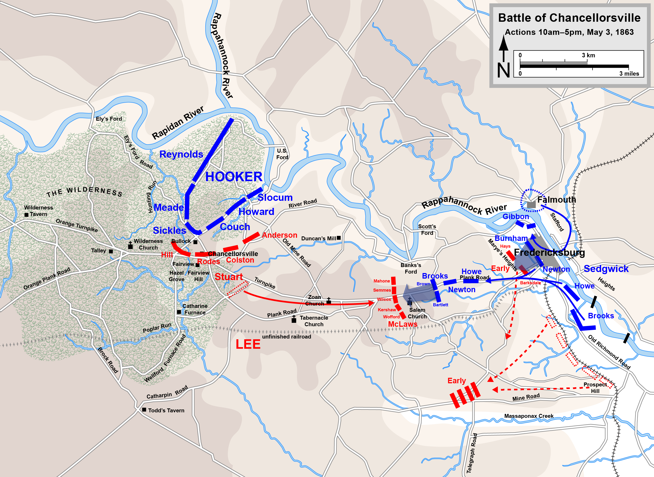 Battle of Chancellorsville  Thomas Stonewall Jackson  General Robert E    Battle Of Antietam Simple Map