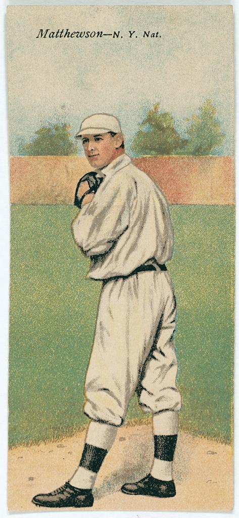 Filechristy Mathewson Albert Bridwell New York Giants