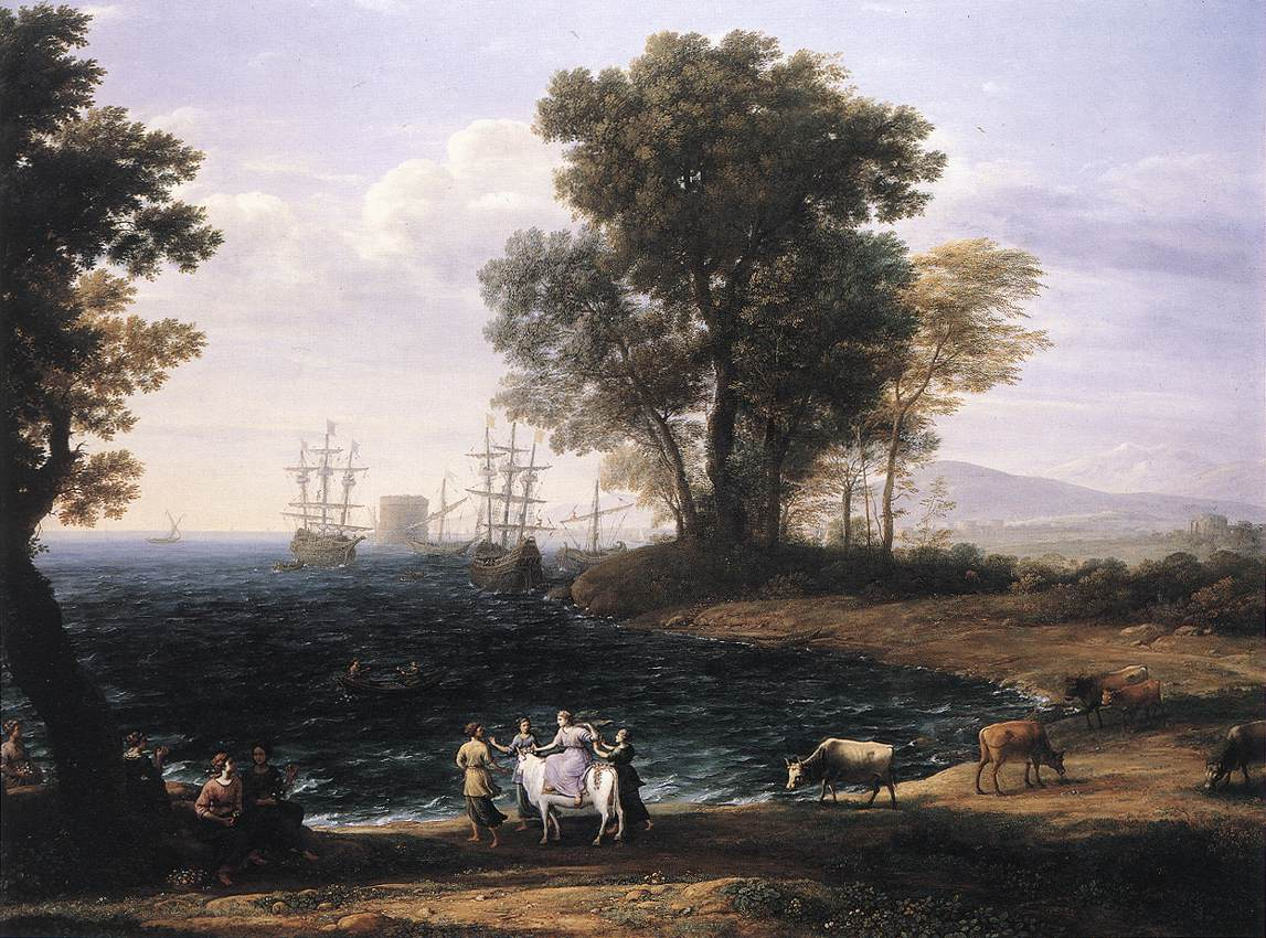 Claude Lorrain - Coast Scene with the Rape of Europa - WGA05012.jpg