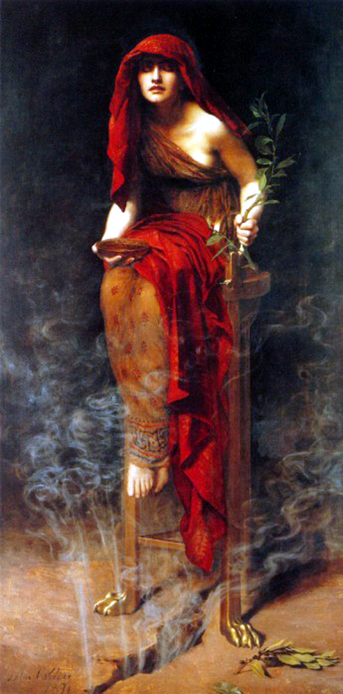 Priestess of Delphi - John Collier [Public domain], via Wikimedia Commons