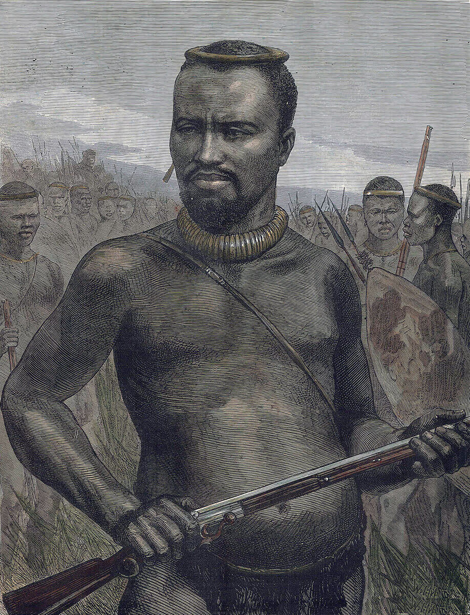 Prince Dabulamanzi commanded the Zulu forces in the war against the British (1879).