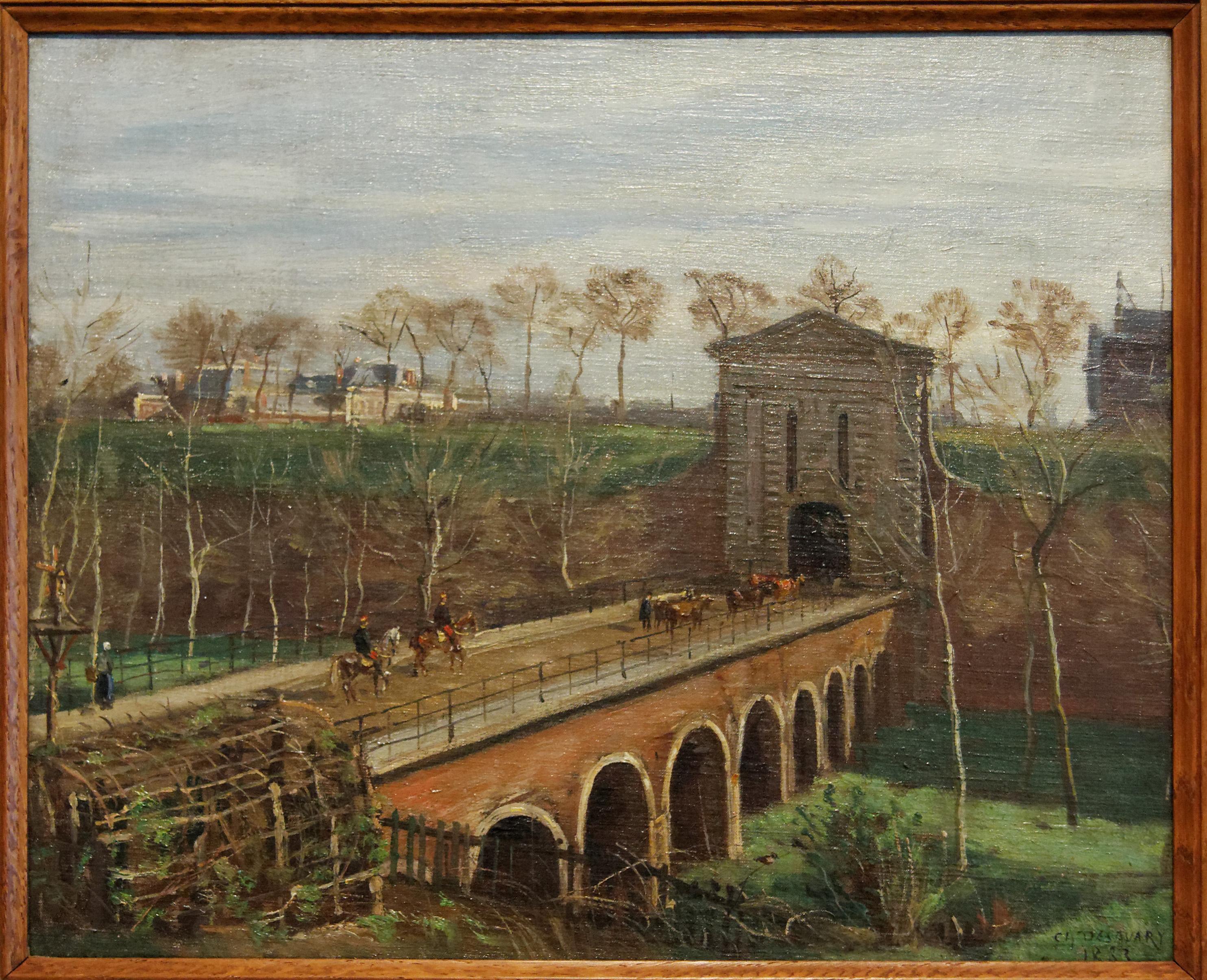 Charles Desavary - La porte d'Amiens à Arras 1883