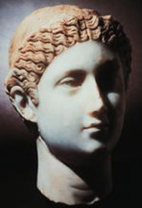 Empress Fausta: marble bust from Turkey, 325 CE in the Spurlock Museum Empress Fausta.jpg
