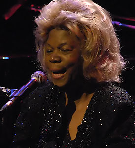 American jazz and blues singer
