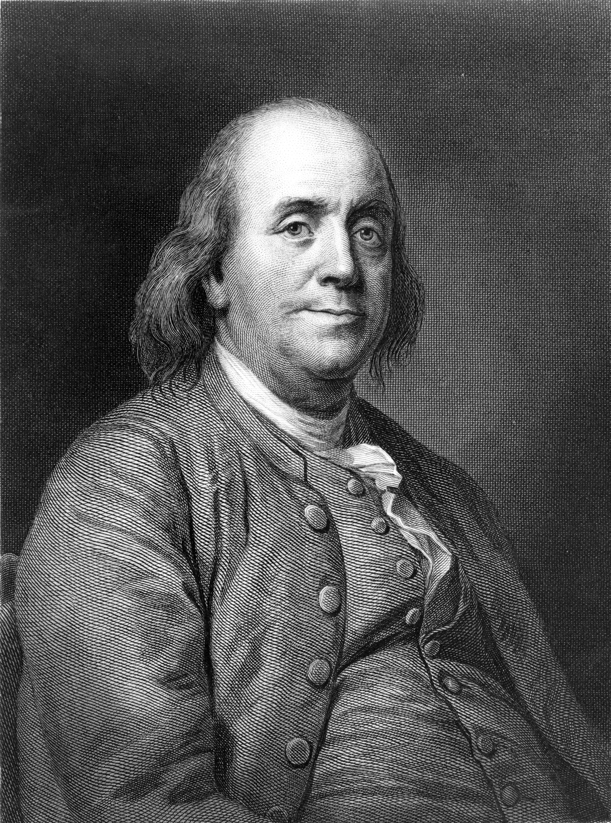 A half-length portrait of a bald, somewhat portly man in a three-piece suit.