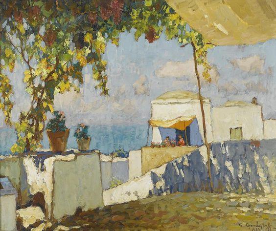 Terrasses de Capri par Constantin Gorbatov (1939).
