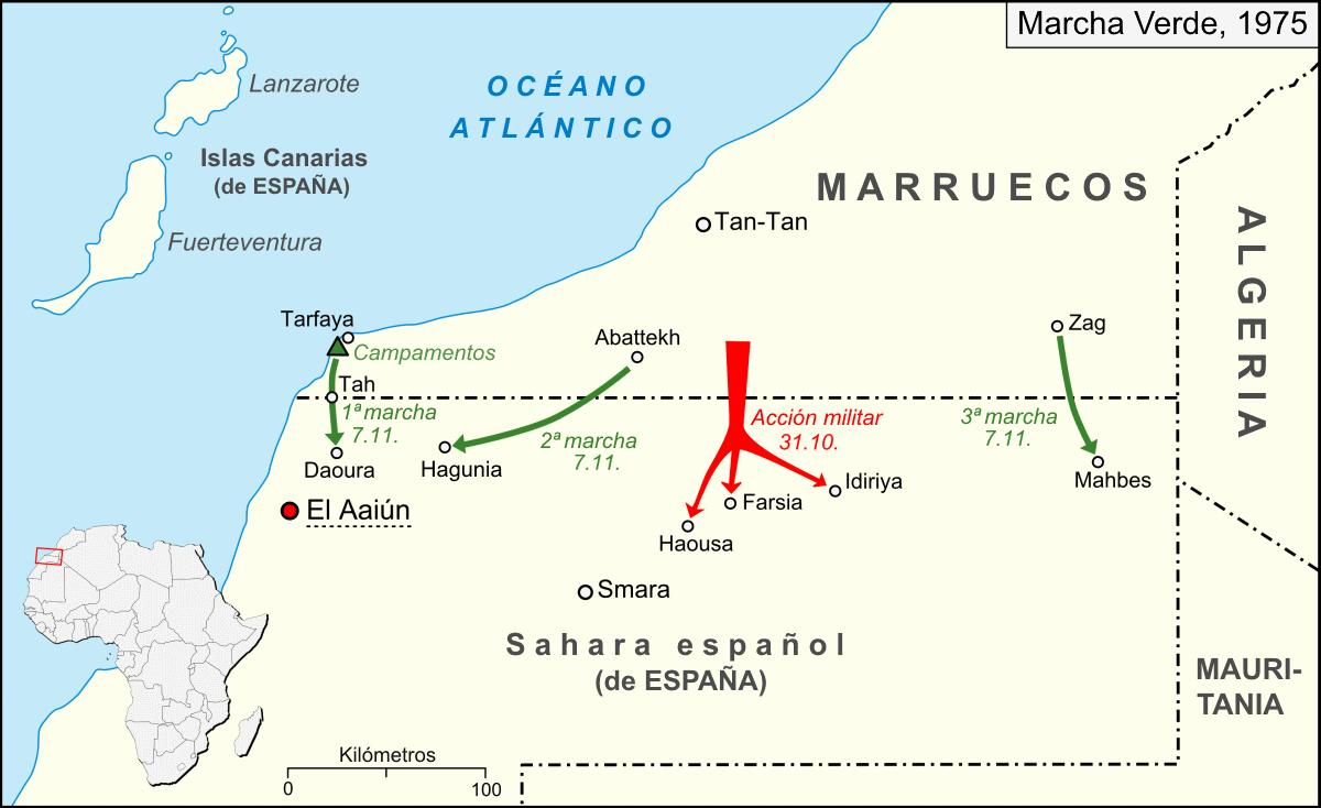 Resultado de imagen de marcha verde sahara