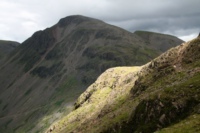 Great Gable from the Corridor Route - geograph.org.uk - 893072