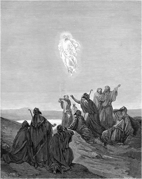 예수님의 승천 (귀스타브 도레, Gustave Dore, 1866년)