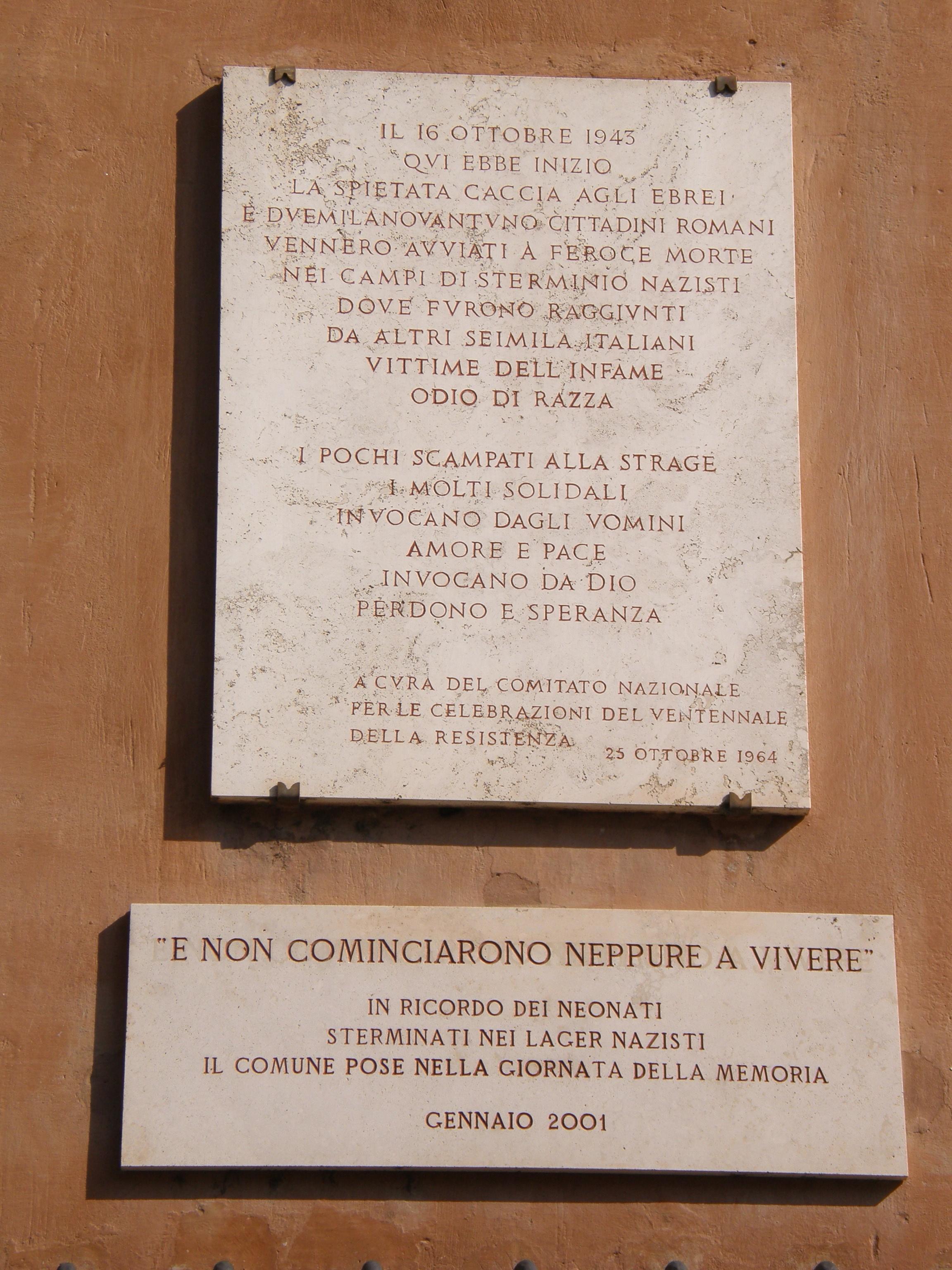 Fileholocaust Memorial In Rome Jewish Ghettog Wikimedia Commons