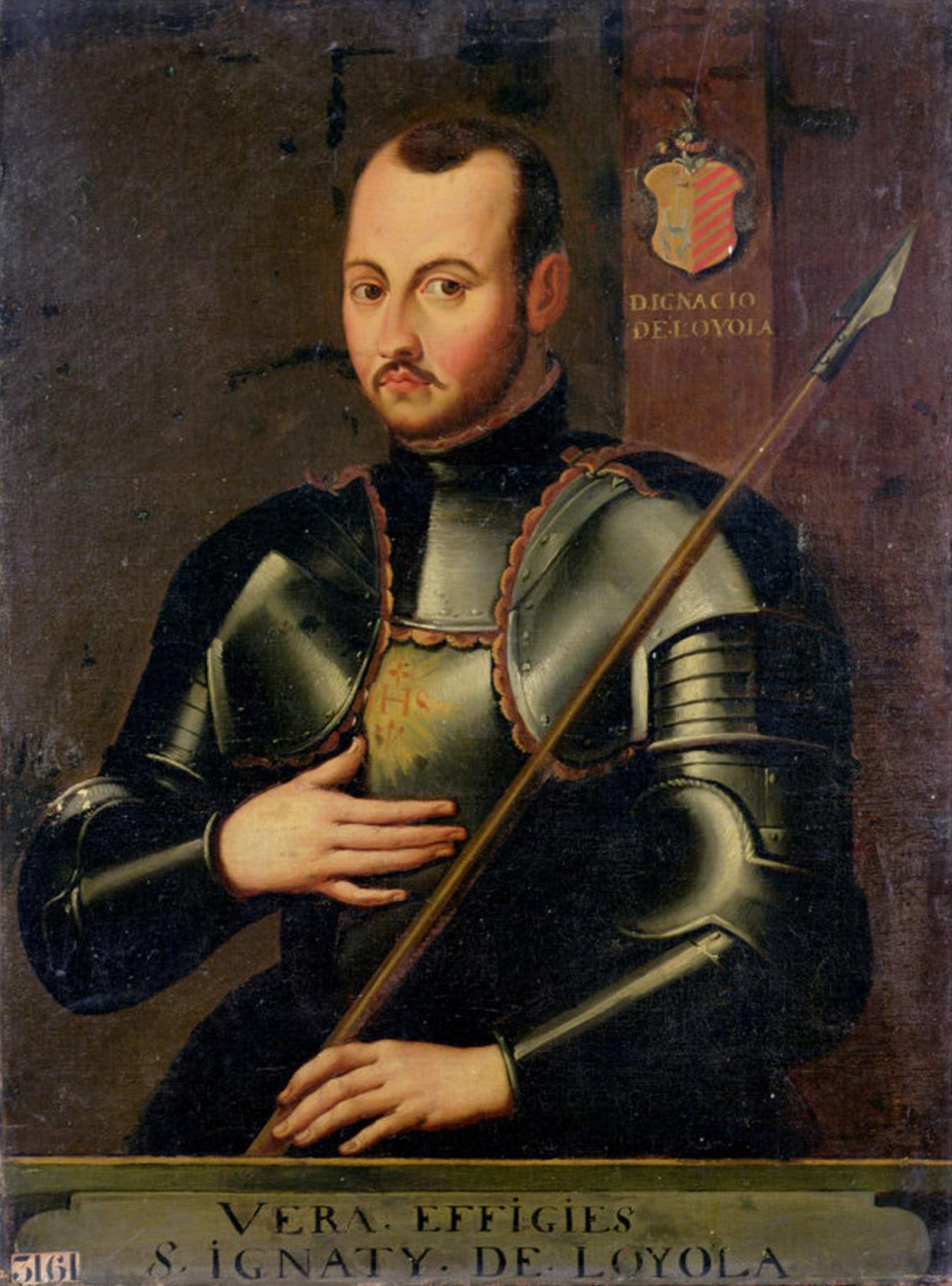 St. Ignatius of Loyola, dressed as a knight