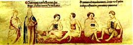 Dante incontra gli usurai, Anonimo pisano (1345)