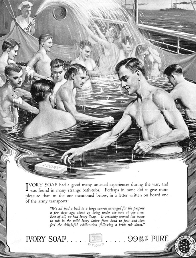 Ivory Soap ad from the WWI era