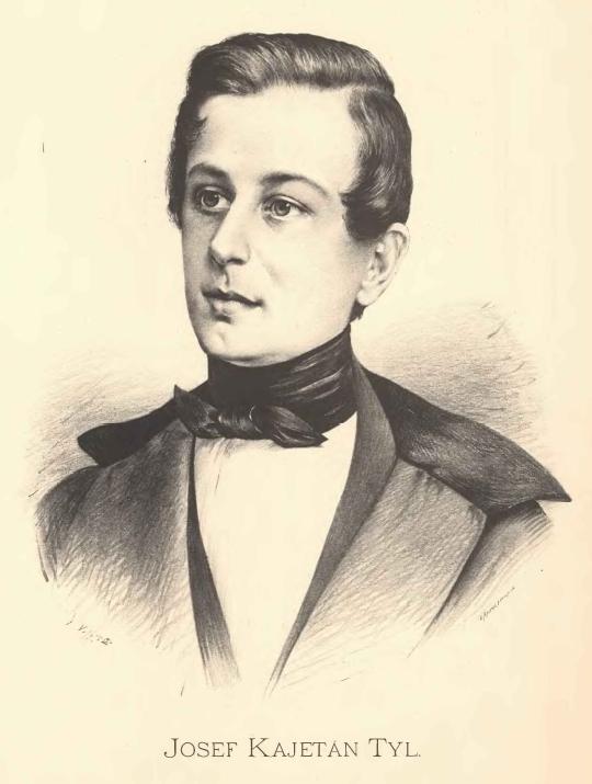 Portrait of Josef Kajetán Tyl by [[Jan Vilímek]]