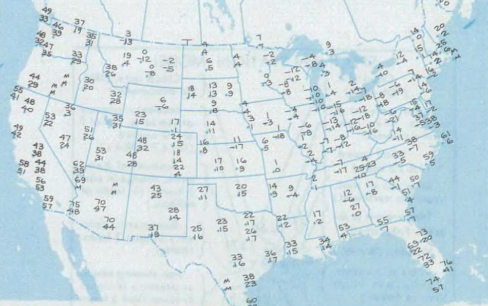 Winter Cold Wave Wikipedia - Us map with high and low temperatures