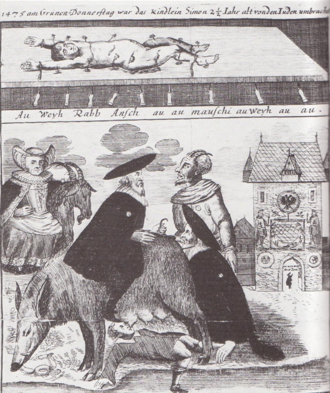 Judesugga i tyskt kopparstick från 1700-talet.