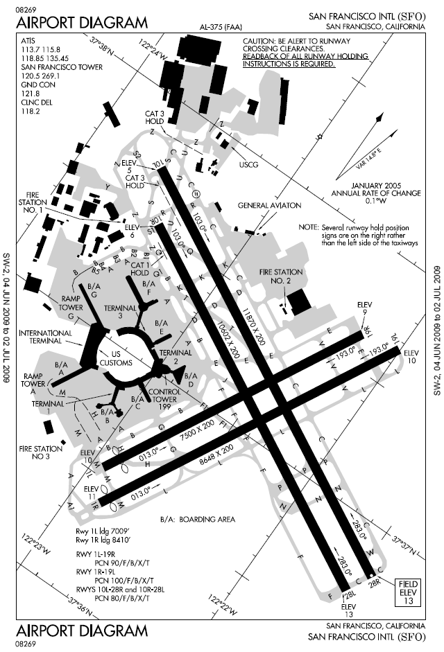 Airport Taxiway Map