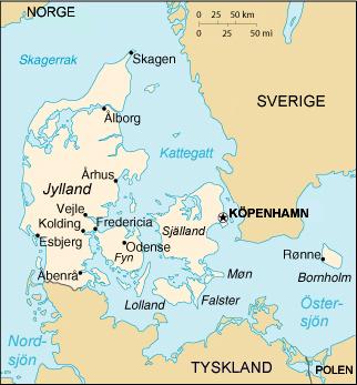 städer i danmark karta Danmarks geografi – Wikipedia städer i danmark karta