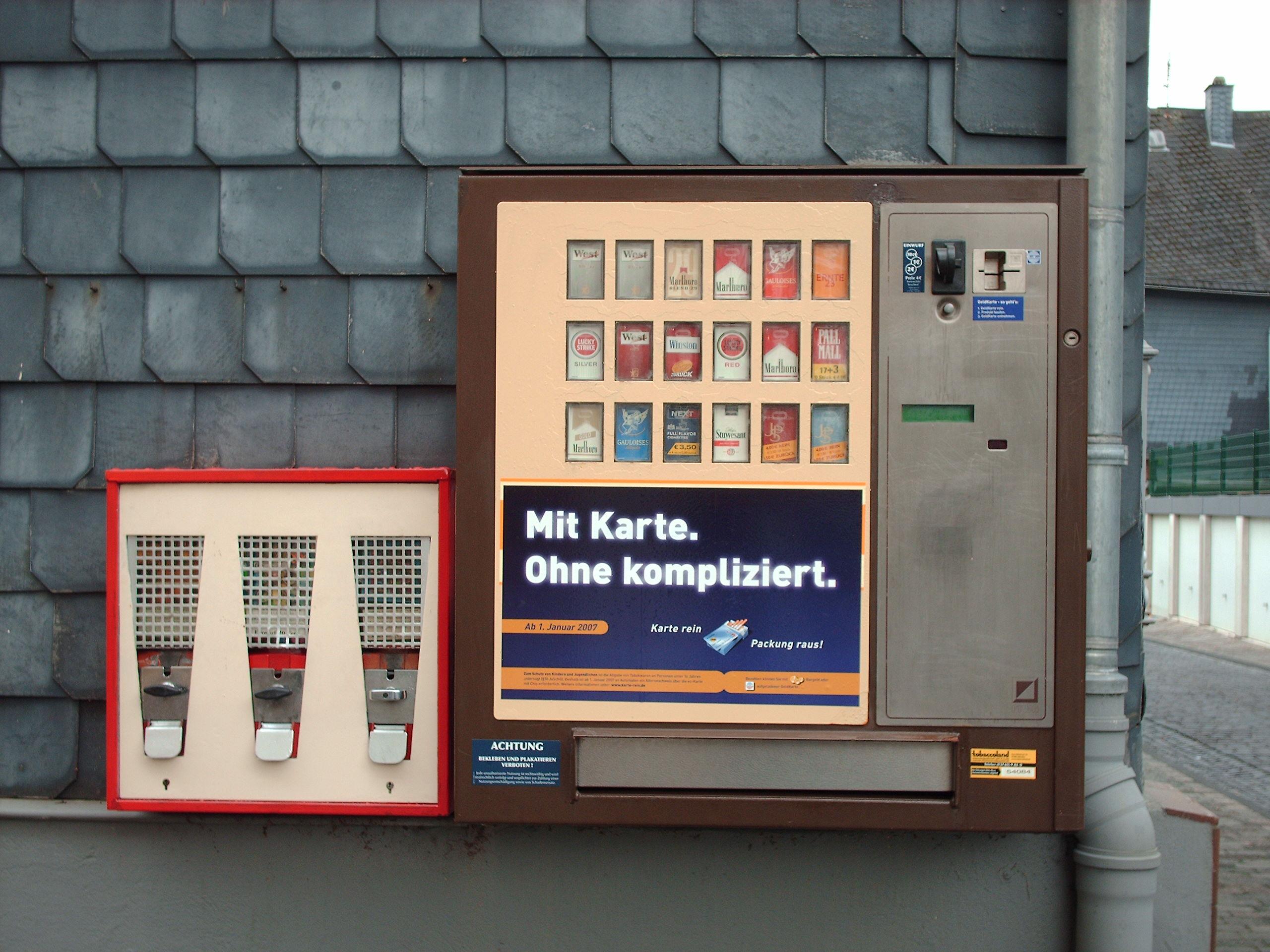 zigarettenautomat kosten