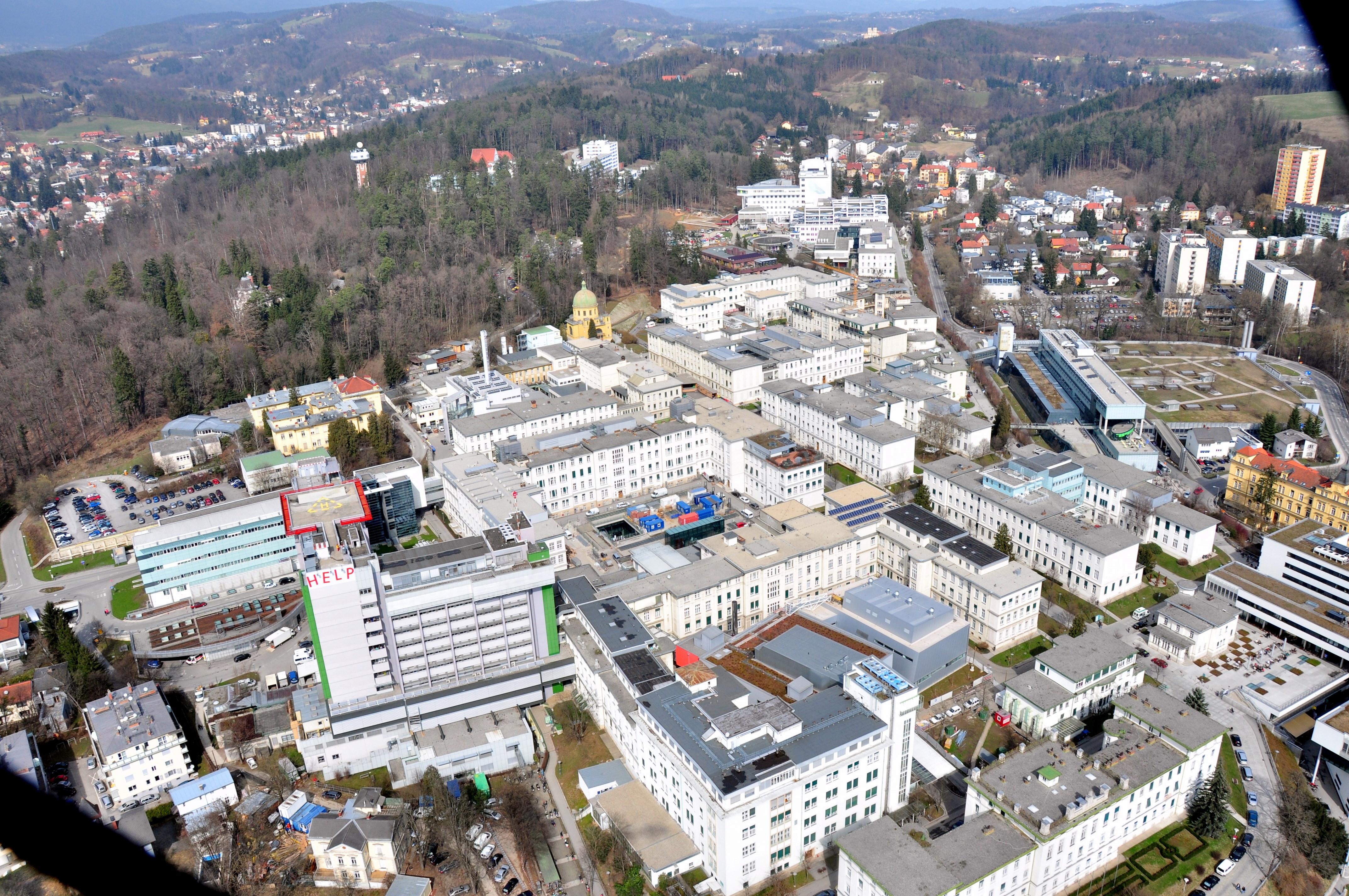 Luftaufnahme des Universitätsklinikums