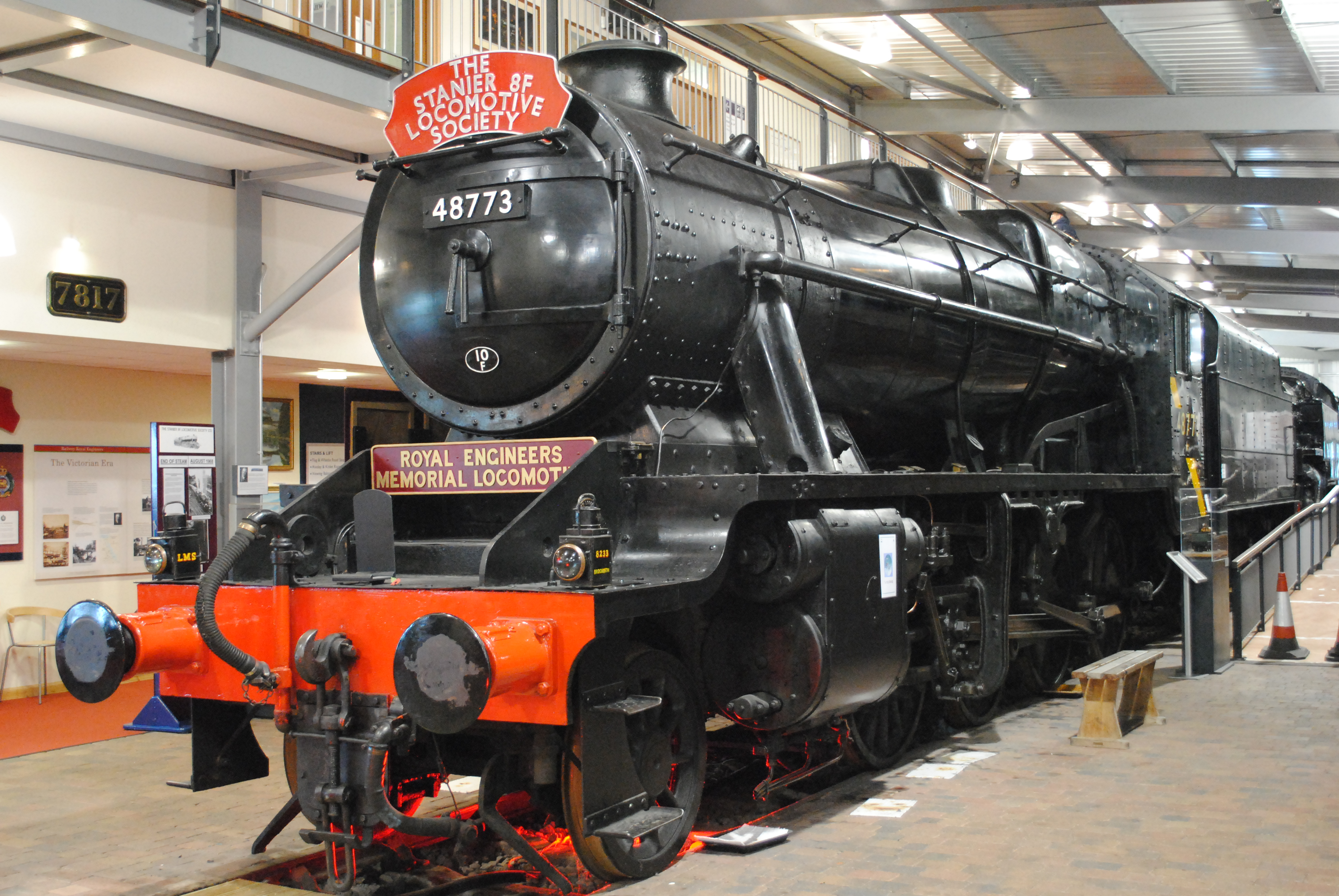 filelms stanier 8f 8233 at the engine house severn