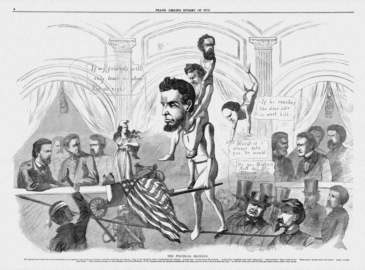 File Lincoln The Political Blondin Harper S Weekly 1 Sep 1864
