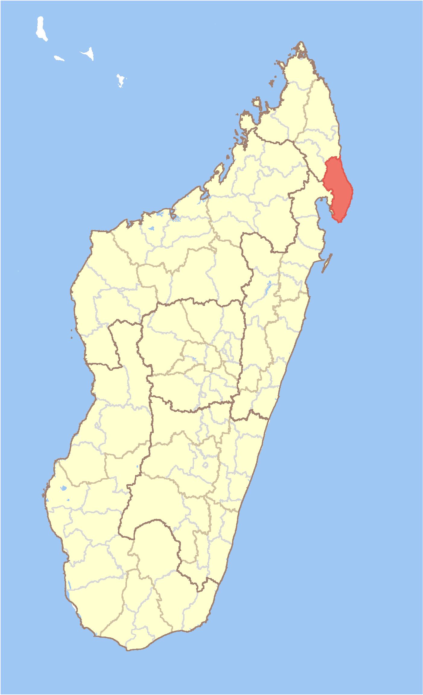 Antalaha Madagascar Carte.Antalaha District Wikipedia