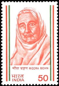 Mirabehn on a 1983 stamp of India