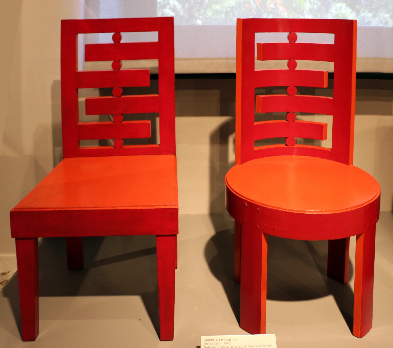 File marcello piacentini sedie per l 39 ingresso della casa for Outlet sedie roma