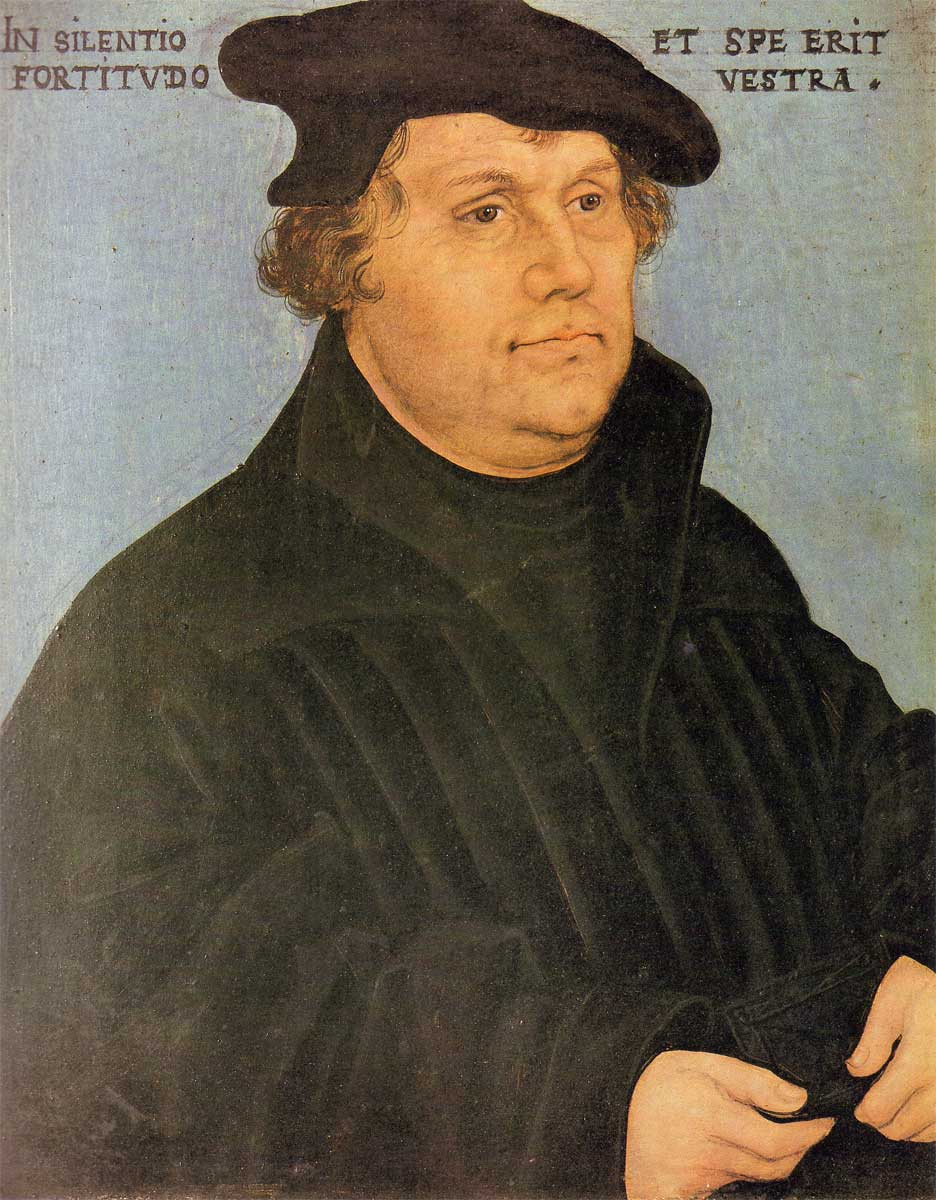 Lucas Cranach (the Elder), Martin Luther, 1532. Oil on panel (Metropolitan Museum of Art, New York)