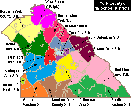 More_Color_Map_of_York_County_ ...york county